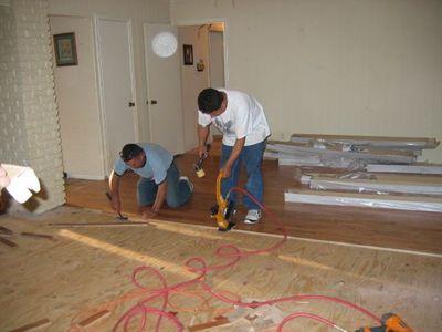 workmen working