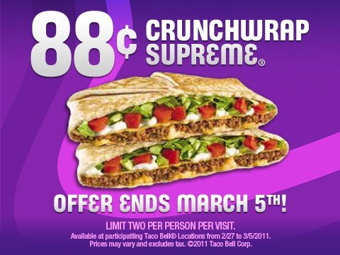 Taco Bell Offers 88 Cent Crunchwrap Supreme & Fast Food Vs. The Scapegoating Public